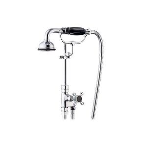 St James 18mm Diverter Valve with Hose & Handshower on Cradle - SJK680-LHBK